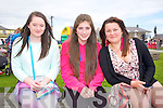 Shauna Dineen, Katie Kearney and Rachel Stack at the Ballyheigue Summer Festival Grand Parade on Sunday
