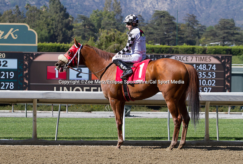 May 31, 2014: Clubhouse Ride with Joe Talamo aboard wins the Grade II Californian Stakes at Santa Anita Arcadia Ca. Zoe Metz/ESW/CSM
