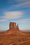 View of West Mitten Butte in Monument Valley.