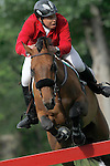 Mexico's jockey Federico Fernandez with the horse Victoria during 102 International Show Jumping Horse Riding, Gran Prix of Madrid-Volvo Throphy.May, 19, 2012. (ALTERPHOTOS/Acero)