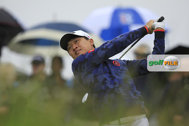 Jeunghun Wang (KOR) on the 10th tee during Round 4 of the 100th Open de France, played at Le Golf National, Guyancourt, Paris, France. 03/07/2016. <br /> Picture: Thos Caffrey | Golffile<br /> <br /> All photos usage must carry mandatory copyright credit   (&copy; Golffile | Thos Caffrey)