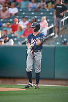 Andy Young (11) of the Reno Aces bats against the Salt Lake Bees at Smith's Ballpark on June 27, 2019 in Salt Lake City, Utah. The Aces defeated the Bees 10-6. (Stephen Smith/Four Seam Images)