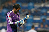 29.03.2014 SPAIN -  La Liga 13/14 Matchday 31th  match played between 5-0 Real Madrid CF vs Rayo Vallecano at Santiago Bernabeu stadium. The picture show Diego Lopez (spanish goalkeeper of Real Madrid)