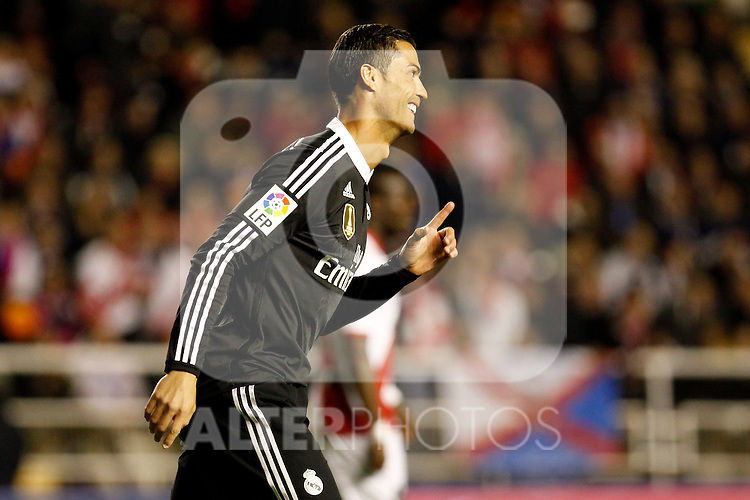 Cristiano Ronaldo of Real Madrid during La Liga match between Rayo Vallecano and Real Madrid at Vallecas Stadium in Madrid, Spain. April 08, 2015. (ALTERPHOTOS/Caro Marin)