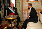 Madrid, (24/10/10).- S.M. El Rey D. Juan Carlos de Borbon recibe las cartas credenciales del Embajador de la Republica Islamica de Afganistan, Excmo. Senor, Massod Khalili en El Palacio real.....King Juan Carlos I of Spain presided the Credential Cards giving to diplomatics in Spain...Photo: Alex Cid-Fuentes / ALFAQUI