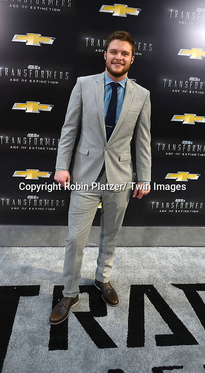 "Jack Reynor attends the US Premiere of ""Transformers: Age of Extinction"" on June 25, 2014 at The Ziegfeld Theatre in New York City, New York, USA."