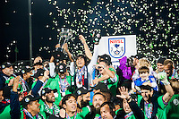 HEMPSTEAD, NY - Sunday November 15, 2015: The New York Cosmos defeat the Ottawa Fury FC 3-2 in the Championship Final of the North American Soccer League (NASL) playoffs at home at James M. Shuart stadium on the campus of Hofstra University.