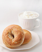 Bagels,Coffee,and Whipped Cream