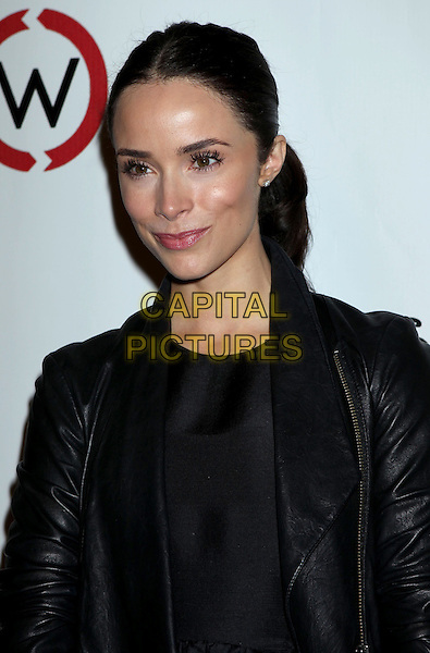 Abigail Spencer.Opening Of Kimberly Snyder's Glow Bio held at Glow Bio, West Hollywood, California, USA, 14th November 2012..portrait headshot  black leather jacket .CAP/ADM/RE.©Russ Elliot/AdMedia/Capital Pictures.