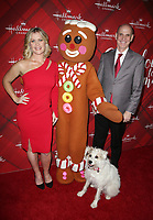 LOS ANGELES, CA - DECEMBER 4: Alison Sweeney, Happy the Dog, Gingerbread man figure, Bill Abbott, at Screening Of Hallmark Channel's 'Christmas At Holly Lodge' at The Grove in Los Angeles, California on December 4, 2017. Credit: Faye Sadou/MediaPunch /NortePhoto.com NORTEPHOTOMEXICO