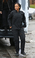 www.acepixs.com<br /> <br /> January 24 2017, New York City<br /> <br /> Rihanna on the Midtown Manhattan set of the new movie 'Ocean's Eight' on January 24 2017 in New York City<br /> <br /> By Line: Zelig Shaul/ACE Pictures<br /> <br /> <br /> ACE Pictures Inc<br /> Tel: 6467670430<br /> Email: info@acepixs.com<br /> www.acepixs.com