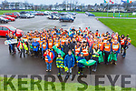The large group of volunteers at the major big clean up of the Tralee Bay area on Thursday morning.