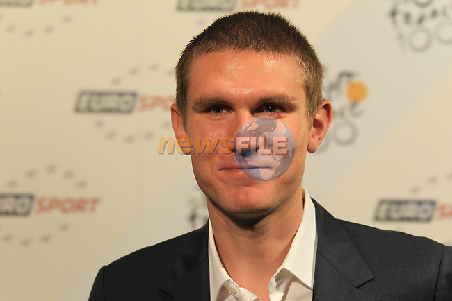 Teejay Van Garderen (USA) at the launch of the route for the 100th edition of the 2013 Tour de France in the Palais de Congress, Paris, France 24th October 2012 (Photo Eoin Clarke/www.newsfile.ie)