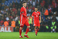 Lee Evans of Wales and Neil Taylor during the International Friendly match between Wales and Panama at The Cardiff City Stadium, Wales, UK. Tuesday 14 November 2017