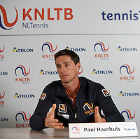 2016, 06 April, NTC, Netherlands, Almere, Press-conference FedCup, Captain Paul Haarhuis<br /> Photo:Tennisimages/Henk Koster