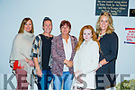l-r Valerie Higgins, Sharon Collins, Anne Connelly, Lisa Martin and Kelsey Moore enjoying the  John Mitchels Night At the Dogs in Kingdom  Greyhound Stadium on Saturday