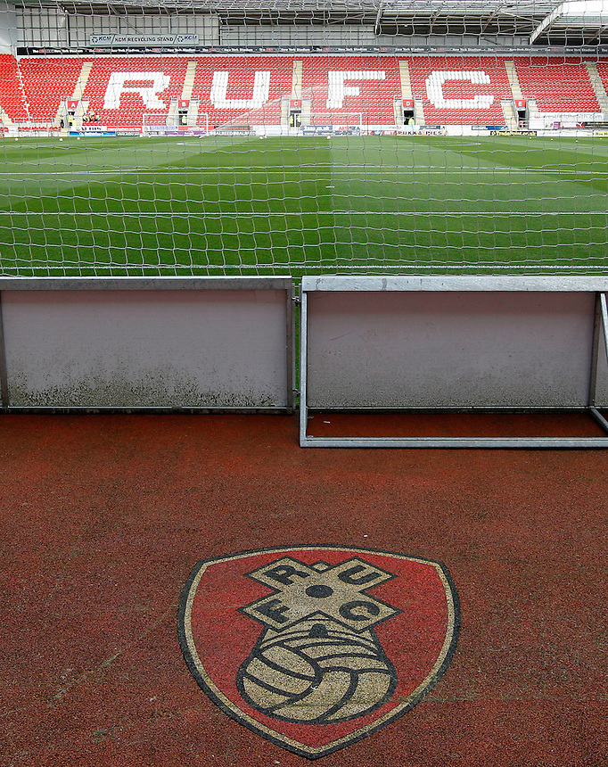 A general view of New York Stadium, home of Rotherham United<br /> <br /> Photographer David Shipman/CameraSport<br /> <br /> Football - The Football League Sky Bet Championship - Rotherham United v Cardiff City - Saturday 19th September 2015 - AESSEAL New York Stadium - Rotherham<br /> <br /> &copy; CameraSport - 43 Linden Ave. Countesthorpe. Leicester. England. LE8 5PG - Tel: +44 (0) 116 277 4147 - admin@camerasport.com - www.camerasport.com