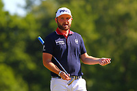 Andy Sullivan on the 5th green during the BMW PGA Golf Championship at Wentworth Golf Course, Wentworth Drive, Virginia Water, England on 26 May 2017. Photo by Steve McCarthy/PRiME Media Images.