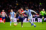 Diego Costa of Atletico de Madrid (L) in action against Raul Navas of Real Sociedad (R) during the La Liga 2018-19 match between Atletico de Madrid and Real Sociedad at Wanda Metropolitano on October 27 2018 in Madrid, Spain.  Photo by Diego Souto / Power Sport Images