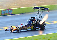 Sept. 24, 2011; Ennis, TX, USA: NHRA top fuel dragster driver Rob Passey during qualifying for the Fall Nationals at the Texas Motorplex. Mandatory Credit: Mark J. Rebilas-