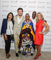 Jasmin Allen, Mario Panzarino, Esther Mahlangu, Isaac Mokwana and Cathy Steen attend the Belvedere (RED) Art Class at Ace Gallery in Los Angeles, CA on September 14, 2016 (Photo by Inae Bloom / Guest of a Guest)
