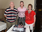 Gary Reilly celebrating his 21st birthday in The Thatch with grandparents Joe and Marie Reilly. Photo:Colin Bell/pressphotos.ie
