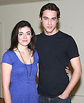 Barrett Wilbert Weed and Ryan McCartan attend the Meet & Greet the stars and creative team of 'Heathers The Musical' on February 19, 2014 at The Snapple Theatre Center in New York City.