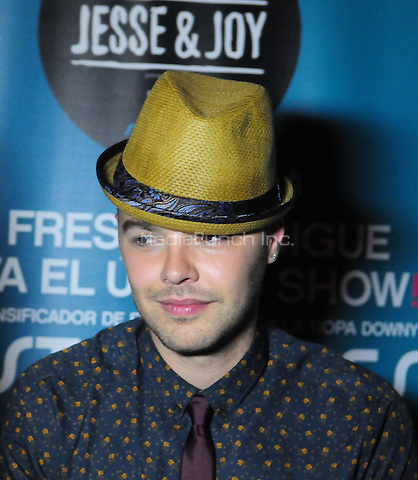 FORT LAUDERDALE, FL - JUNE 09: Jesse Huerta of brother/sister Pop Singer duo Jesse & Joy backstage as part of their Latinos Imparables Tour at Revolution Live on June 9, 2013 in Fort Lauderdale, Florida. © MPI10/MediaPunch Inc