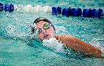 Tennis Club's Olivia Dunford competes in the 100 yard free race during the 53rd annual Country Club Swimming Championships on Monday, Aug. 6, 2012, in Kearns, Utah. (© 2012 Douglas C. Pizac)