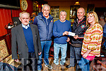Pat Beale winner of the St Pats GAA lotto receives €3,400 from St Pats GAA Club in Bettys Bar on Sunday. <br /> L to r: Jim Savage, Jimmy Mulligan, Pat Bale, Sean Daly and Caroline Clapham.