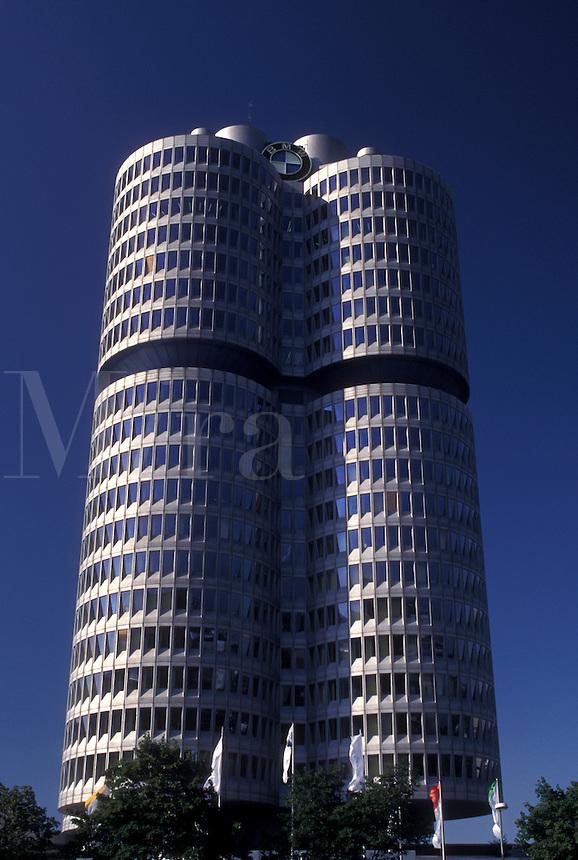Germany, Munich, Bavaria, Munchen, Europe, BMW Headquarters Tower