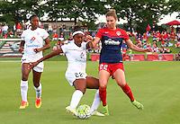 Boyds, MD - Saturday July 02, 2016: Alyssa Kleiner, Brianne Reed during a regular season National Women's Soccer League (NWSL) match between the Washington Spirit and FC Kansas City at Maureen Hendricks Field, Maryland SoccerPlex.
