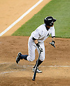 Ichiro Suzuki (Yankees),<br /> JUNE 25, 2013 - MLB :<br /> Ichiro Suzuki of the New York Yankees hits a walk off home run in the ninth inning during the Major League Baseball game against the Texas Rangers at Yankee Stadium in The Bronx, New York, United States. (Photo by AFLO)
