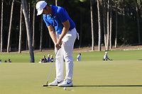 Sam Horsfield (ENG) birdie putt on the 16th green during Sunday's Final Round of the 2018 Turkish Airlines Open hosted by Regnum Carya Golf &amp; Spa Resort, Antalya, Turkey. 4th November 2018.<br /> Picture: Eoin Clarke | Golffile<br /> <br /> <br /> All photos usage must carry mandatory copyright credit (&copy; Golffile | Eoin Clarke)