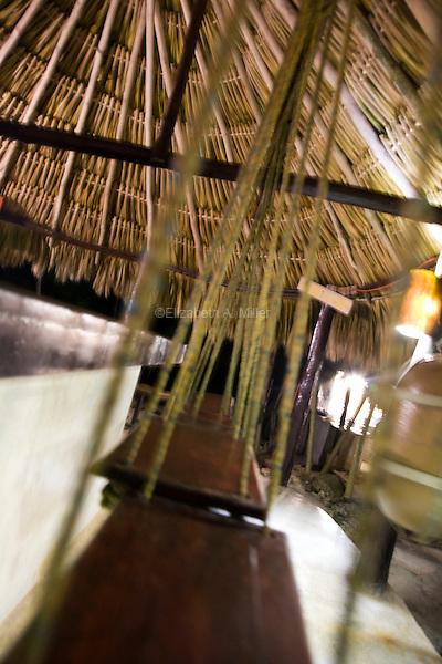 Swings at the bar at Papaya Playa.