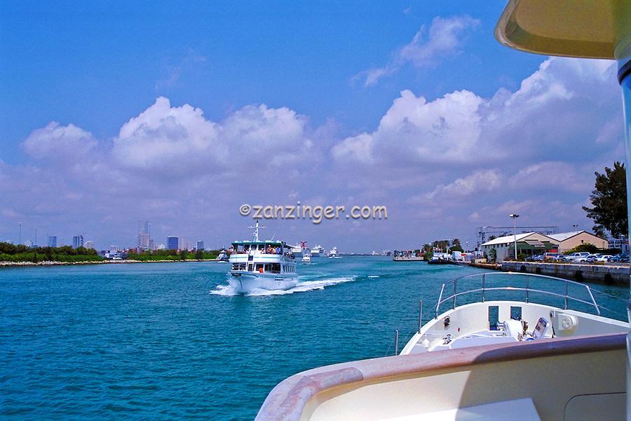 Fisher Island, Ferry, Intracoastal Waterway; Dodge Island; Miami; Florida; USA;