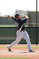 Rich Poythress #12 of the Seattle Mariners plays in a minor league spring training game against the Kansas City Royals at the Royals minor league complex on March 26, 2011  in Surprise, Arizona. .Photo by:  Bill Mitchell/Four Seam Images.