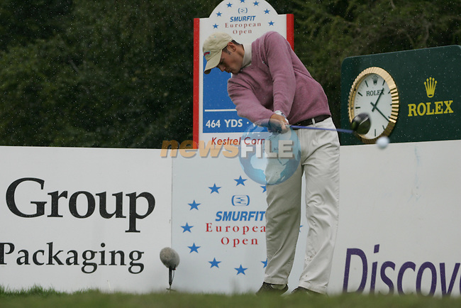Martin Kaymer tees off on his final hole the 9th during the 2nd round of the Smurfit Kappa European Open at The K Club, Starffan,Co.Kildare, Ireland 5th July 2007 (Photo by Eoin Clarke/NEWSFILE)