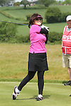 ISPS Handa Wales Open 2012.Midori Miyazaki from ISPS gets tee's off in the Pro-Am....30.05.12.©Steve Pope