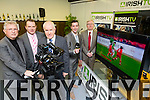 Minister Jimmy Deenihan  officially launched the Munster Regional Office of Irish TV at the HCT Building IT Tralee North Campus on Monday. Pictured l-r John Griffin (Chairman Irish TV) , Pierse O'Reilly (CEO Irish TV), Minister Jimmy Deenihan Brian Hurley (Munster Regional Manager), Oliver Murphy, President IT Tralee,