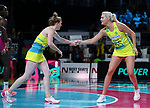 29/10/17 Fast5 2017<br /> Fast 5 Netball World Series<br /> Hisense Arena Melbourne<br /> Australia v South Africa <br /> <br /> Tegan Philip , Great Tippett<br /> <br /> <br /> <br /> <br /> Photo: Grant Treeby