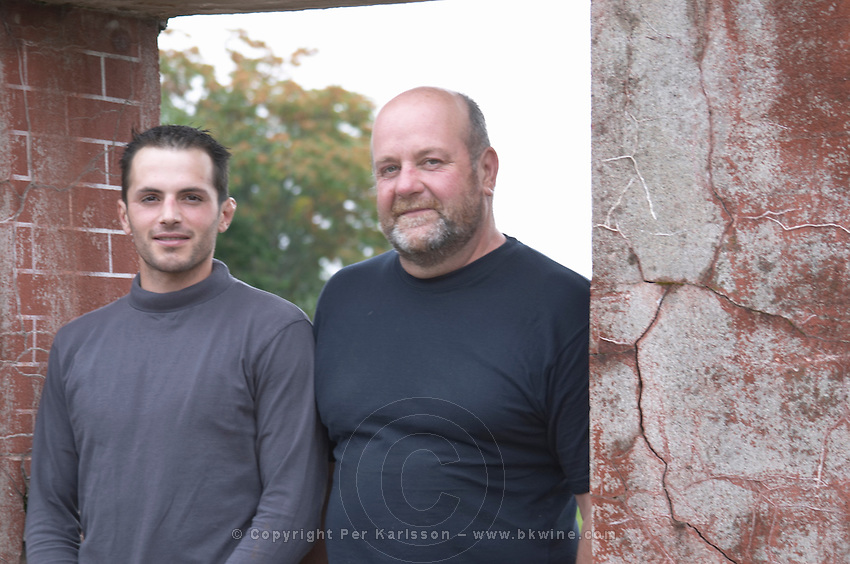 Philippe Livera and son. Domaine Philippe Livera, Gevrey Chambertin, Cote de Nuits, d'Or, Burgundy, France