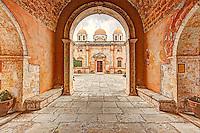 The Monastery of Agia Triada Tsagarolon in Crete, Greece
