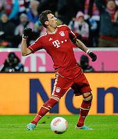 FUSSBALL   1. BUNDESLIGA  SAISON 2012/2013   18. Spieltag FC Bayern Muenchen - SpVgg Greuther Fuerth       01.12.2012 JUBEL Mario Mandzukic (FC Bayern Muenchen) nach seinem Tor zum 2-0