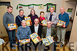 Tom O'Connor Kerry Librarian who launch the Causeway Historical 2016 Calendar in Keane's Bar,Causeway on Wednesday night with Tom launching Front l-r: Fr Brendan Walsh,Tommy O'Connor and Seamus Buckley. Back l-r: John Madden,Mike Joe Quilter,Martina Flynn,Helen Twomey,John O'Regan and Roy Dineen.