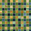 Bonnie, a jewel glass mosaic field shown in Marcasite, Aventurine and Tiger's Eye.