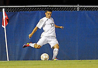 Florida International University men's soccer player Mario Uribe (17)  plays against Florida Atlantic University on August 28, 2011 at Miami, Florida.  The game ended in a 1-1 overtime tie. .