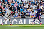 Real Madrid's Marcelo Vieira and Real Club Celta de Vigo's Pione Sisto during La Liga match between Real Madrid and Real Club Celta de Vigo at Santiago Bernabeu Stadium in Madrid, Spain. March 16, 2019. (ALTERPHOTOS/A. Perez Meca)