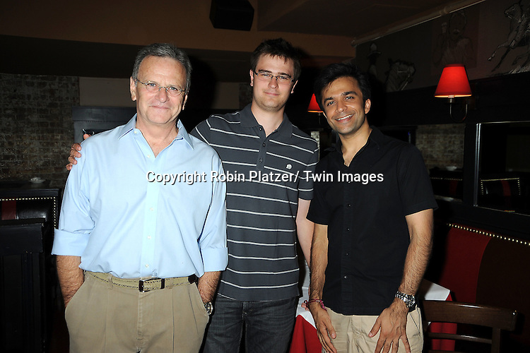 Bob Woods and son Tanner Woods and Nick Choksi attending the 5th Annual Sean Ringgold Fan Club Party on August 12, 2011 at HB Burger's Sunken Bar in New York City.