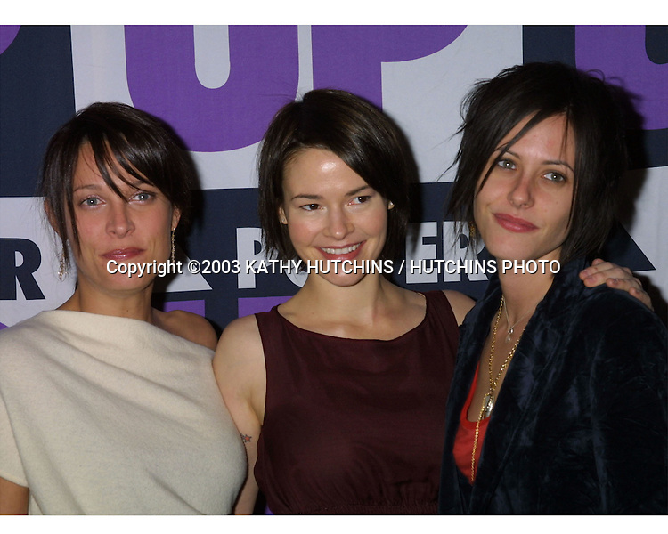 ©2003 KATHY HUTCHINS / HUTCHINS PHOTO.3rd Power Up Premiere Gala.BEVERLY HILLS, CA.NOVEMBER 2, 2003...ERIN DANIELS.LESHIA HAILEY.KATHERINE MOENNIG